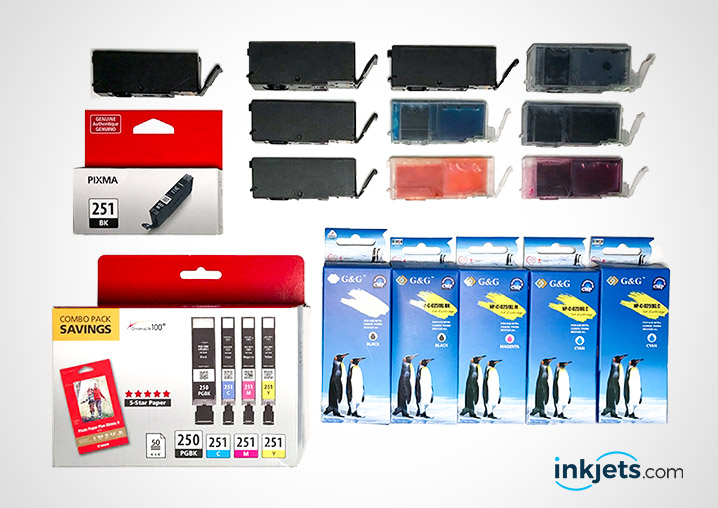 Genuine canon ink cartridges and compatible generic ink cartridges from inkjets.com